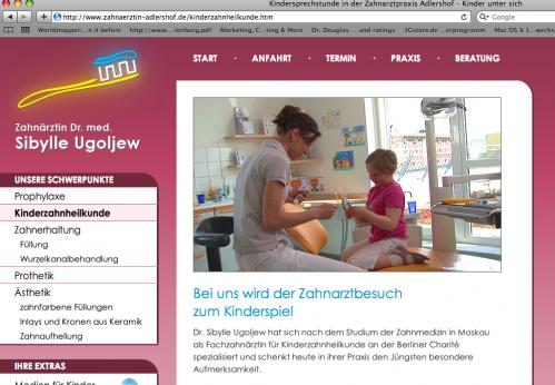 Die neue Website von Dr. Sibylle Ugoljew
