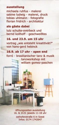 Offenes Atelier in der Ateliergemeinschaft Osthofenstraße